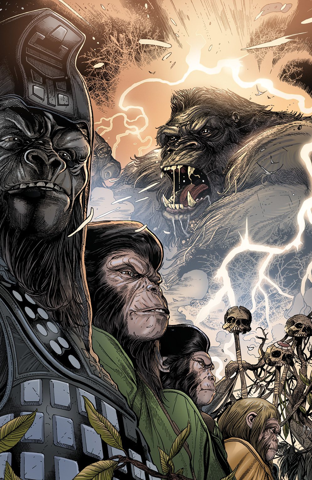 KONG ON PLANET OF APES #4 CONNECTING MAGNO VAR