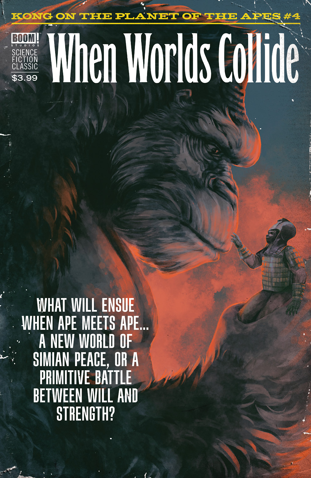 KONG ON PLANET OF APES #4 CLASSIC PULP WOODY VAR