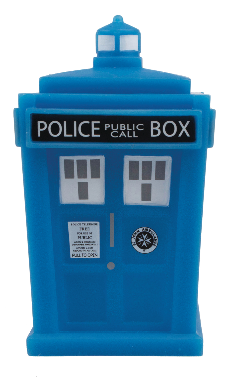 DOCTOR WHO TITANS TARDIS GLOW IN THE DARK 4.5IN VIN FIG