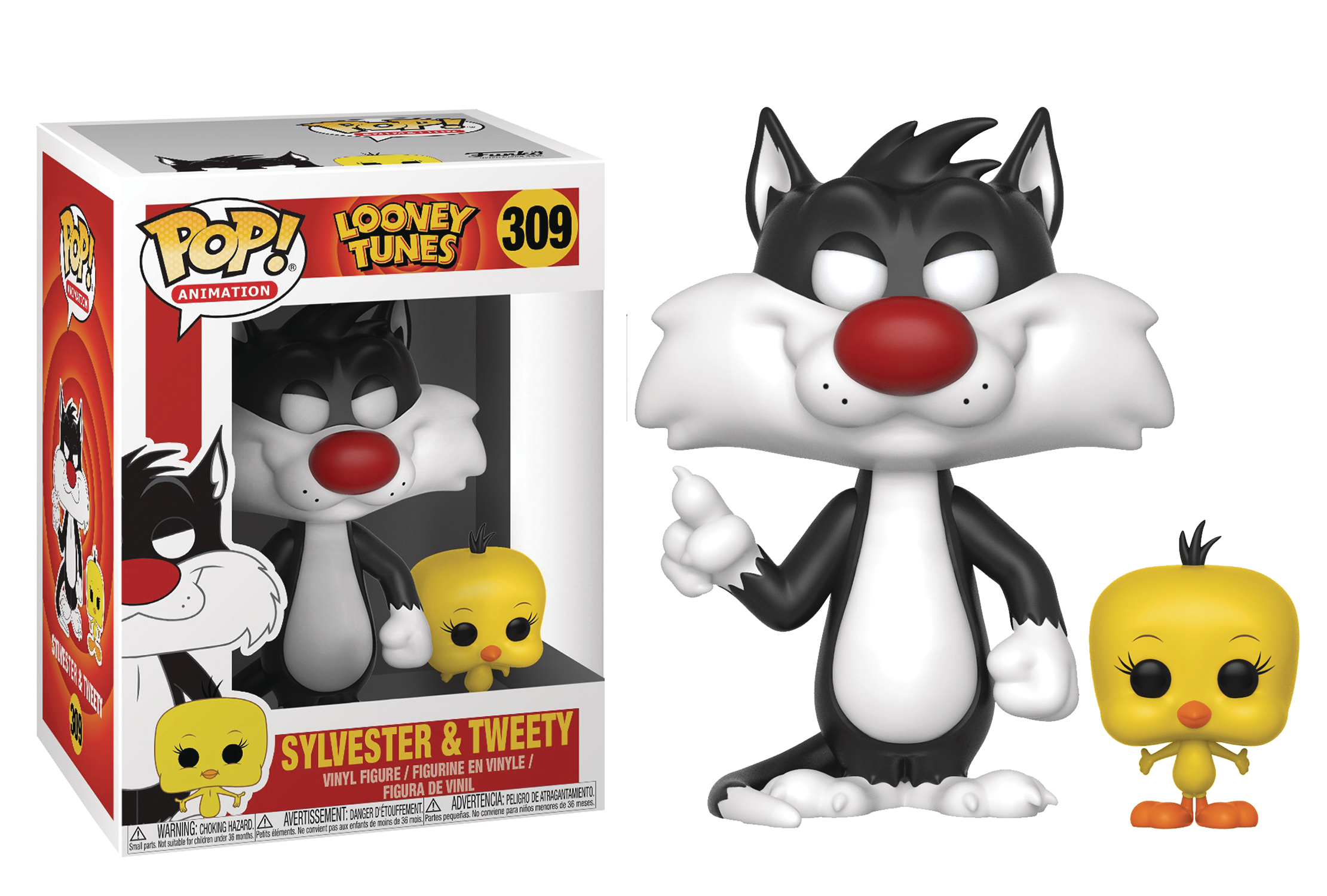POP LOONEY TUNES SYLVESTER AND TWEETY VINYL FIGURE