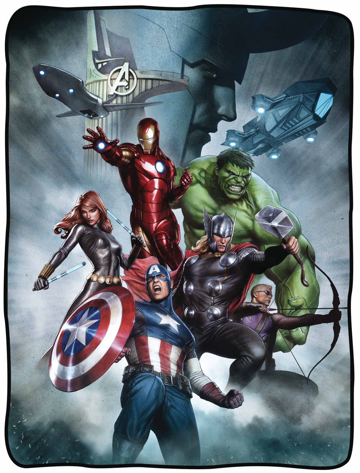 MARVEL AVENGERS CHARACTER FLEECE BLANKET