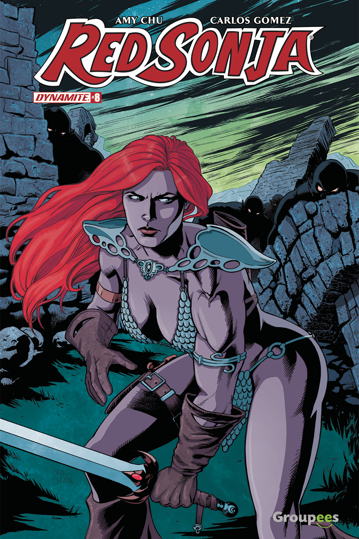 RED SONJA #8 GROUPEES EXC VAR