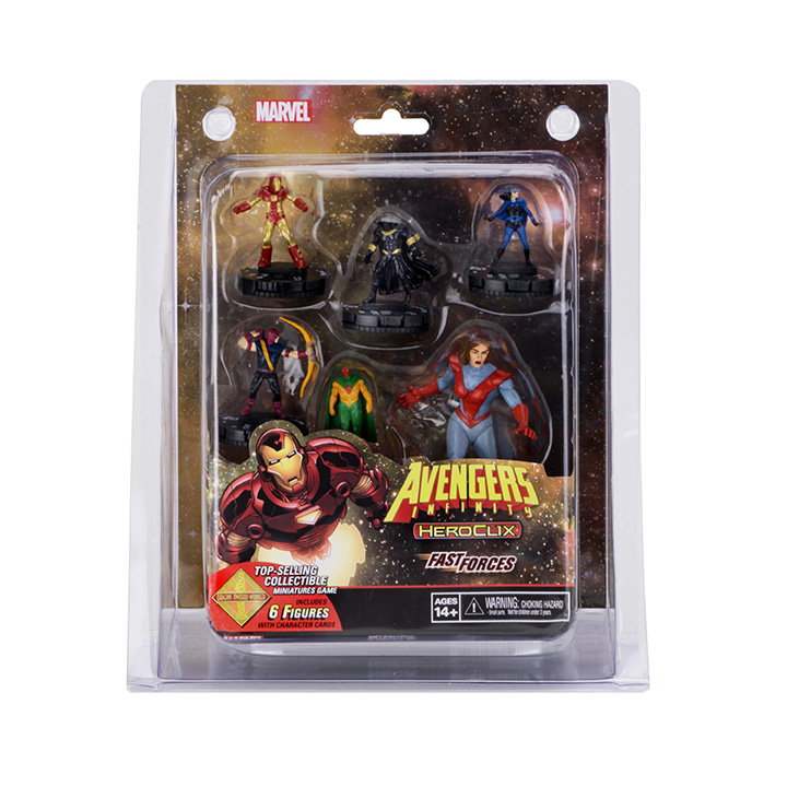 MARVEL HEROCLIX AVENGERS INFINITY FAST FORCES 6PK