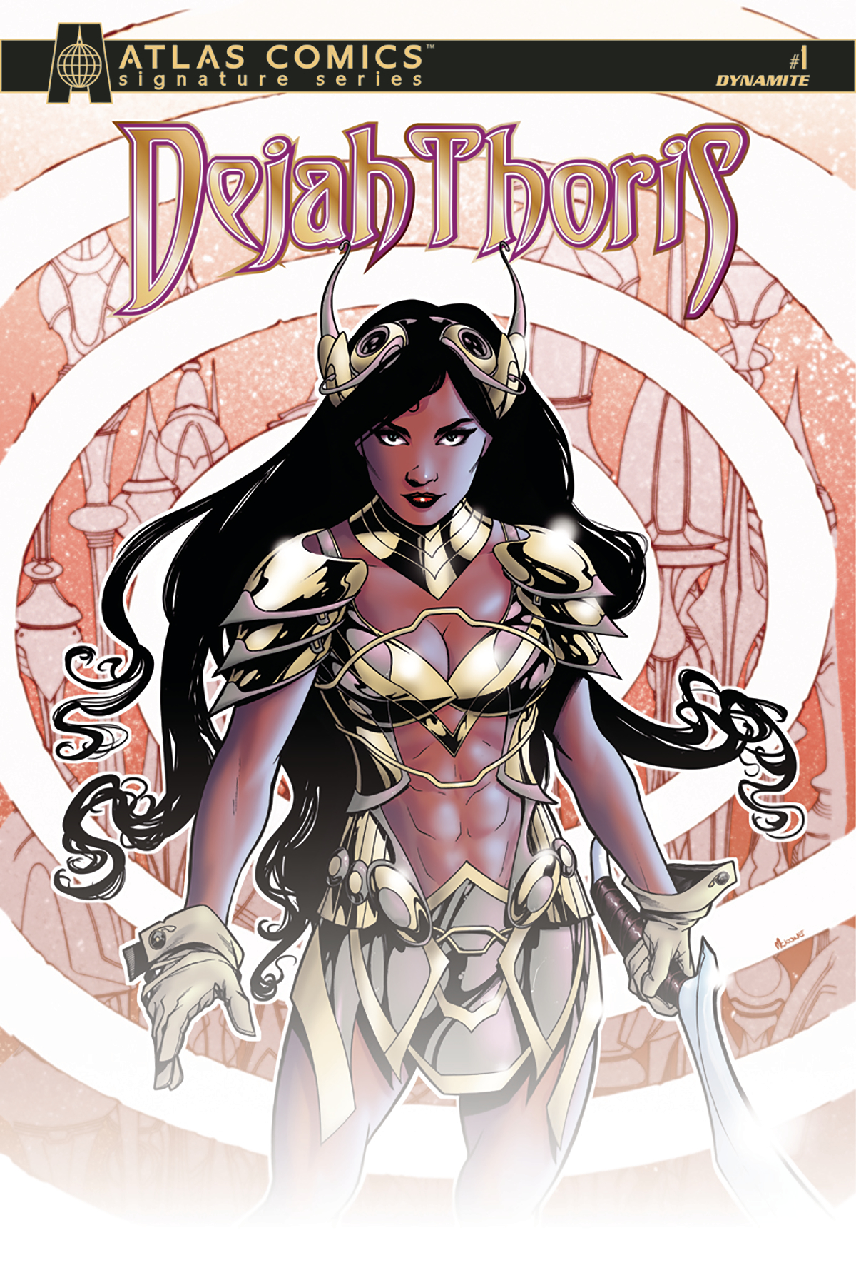DEJAH THORIS #1 ATLAS COMICS CHU SGN