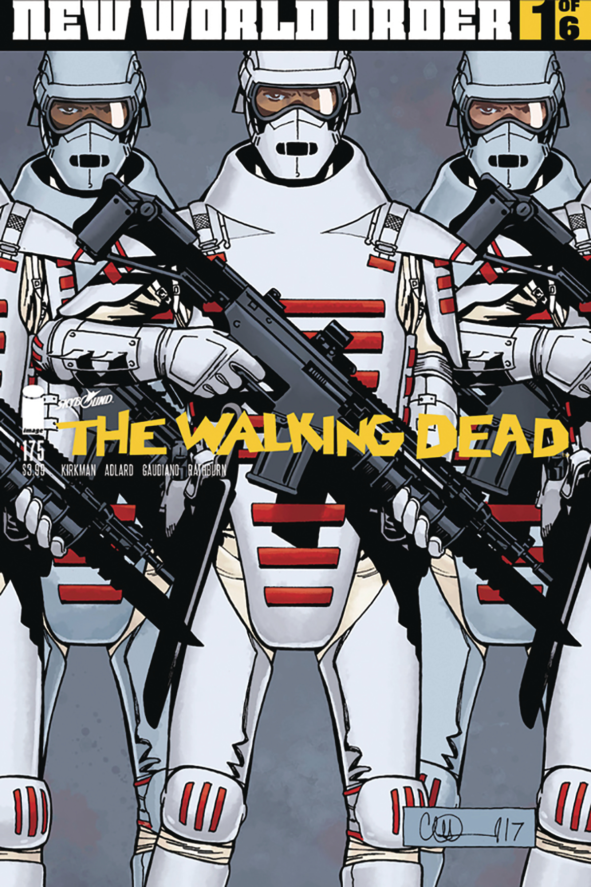 DF WALKING DEAD #175 RED GAUDIANO SGN