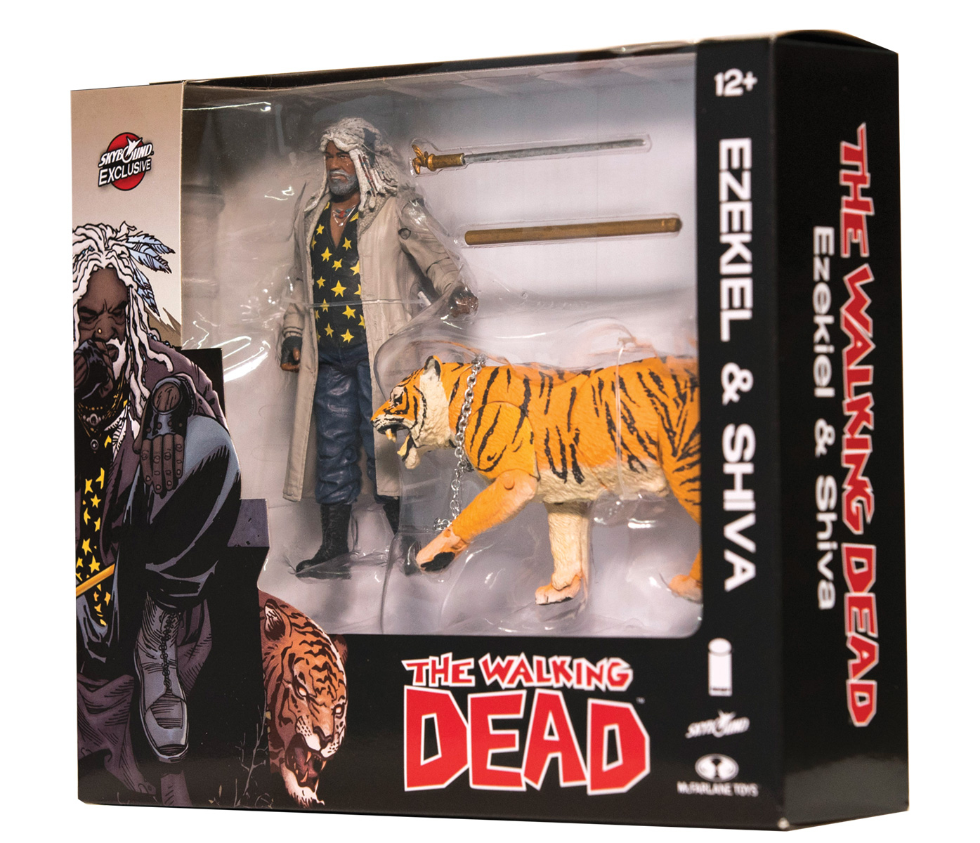 WALKING DEAD EZEKIEL & SHIVA ALL OUT WAR AF 2-PACK (COLOR) (