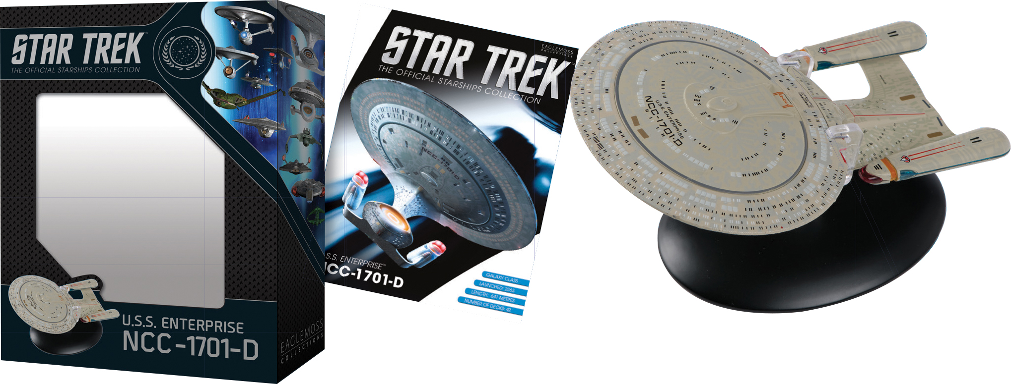 STAR TREK STARSHIPS BEST OF FIG #1 USS ENTERPRISE NCC-1701D