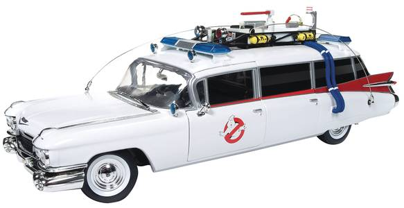 GHOSTBUSTERS ECTO-1 1/18 SCALE DIE-CAST VEHICLE