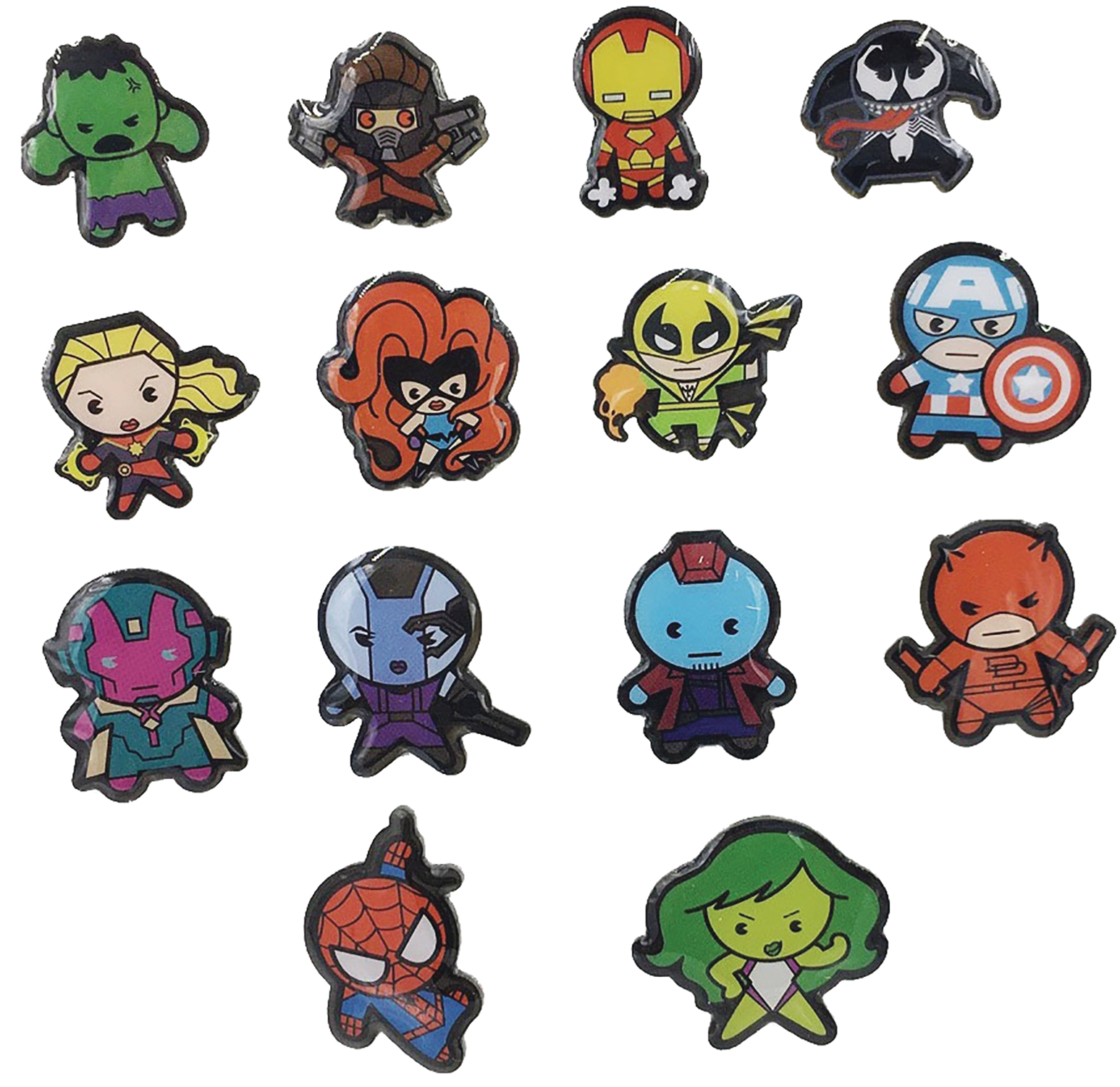 MARVEL LAPEL PIN 50PC BMB DISP