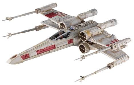 HW ELITE STAR WARS DIE-CAST RED-5 X-WING FIGHTER
