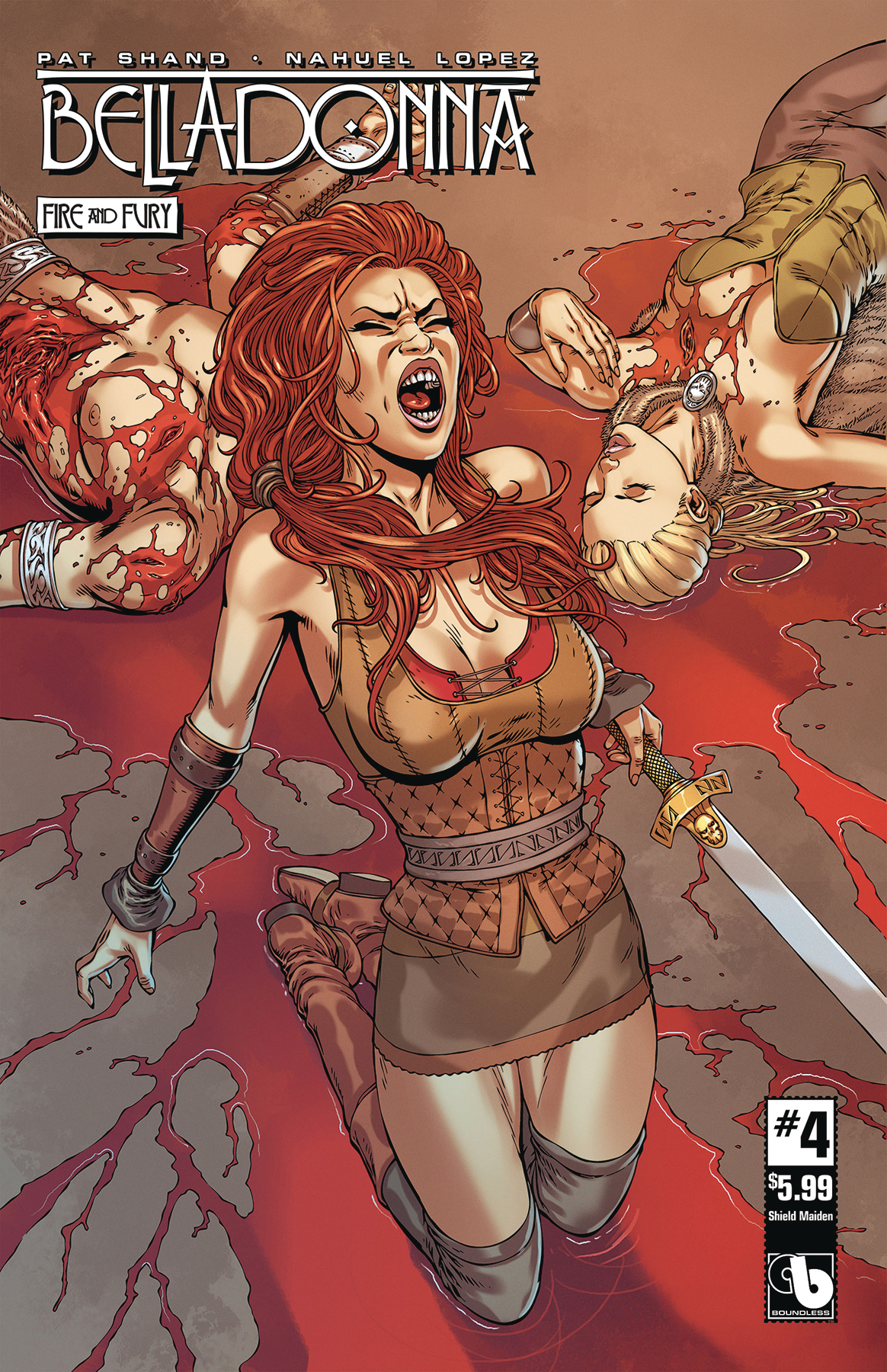 BELLADONNA FIRE FURY #4 SHIELD MAIDEN (MR)