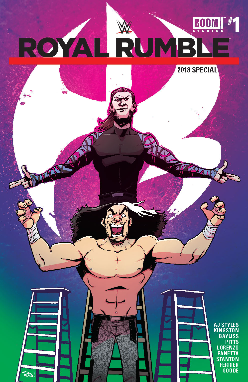 WWE ROYAL RUMBLE 2018 SPECIAL #1 FOC INCV GUILLORY VAR