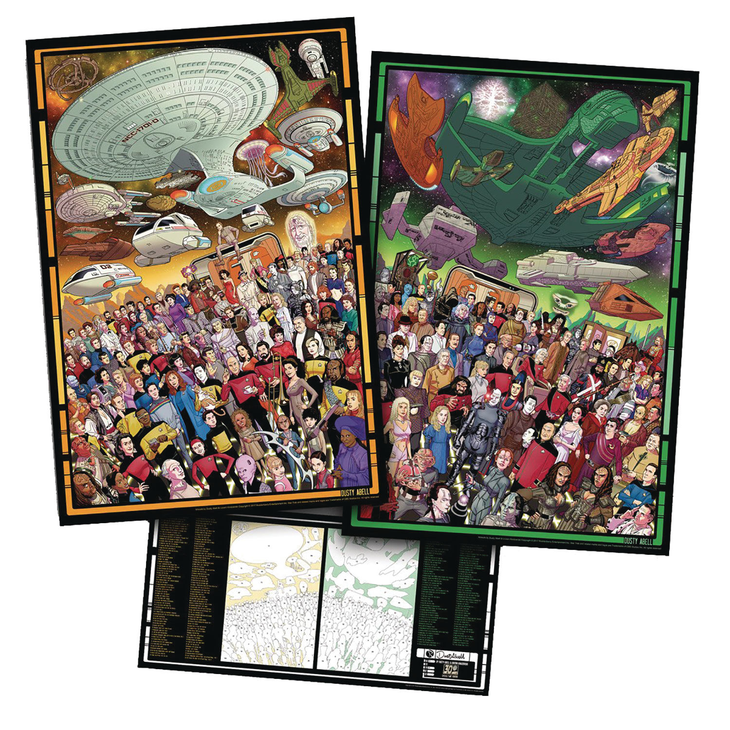 OCT178617 - ST TNG 30TH ANNI DUSTY ABELL SIGNATURE POSTER SET