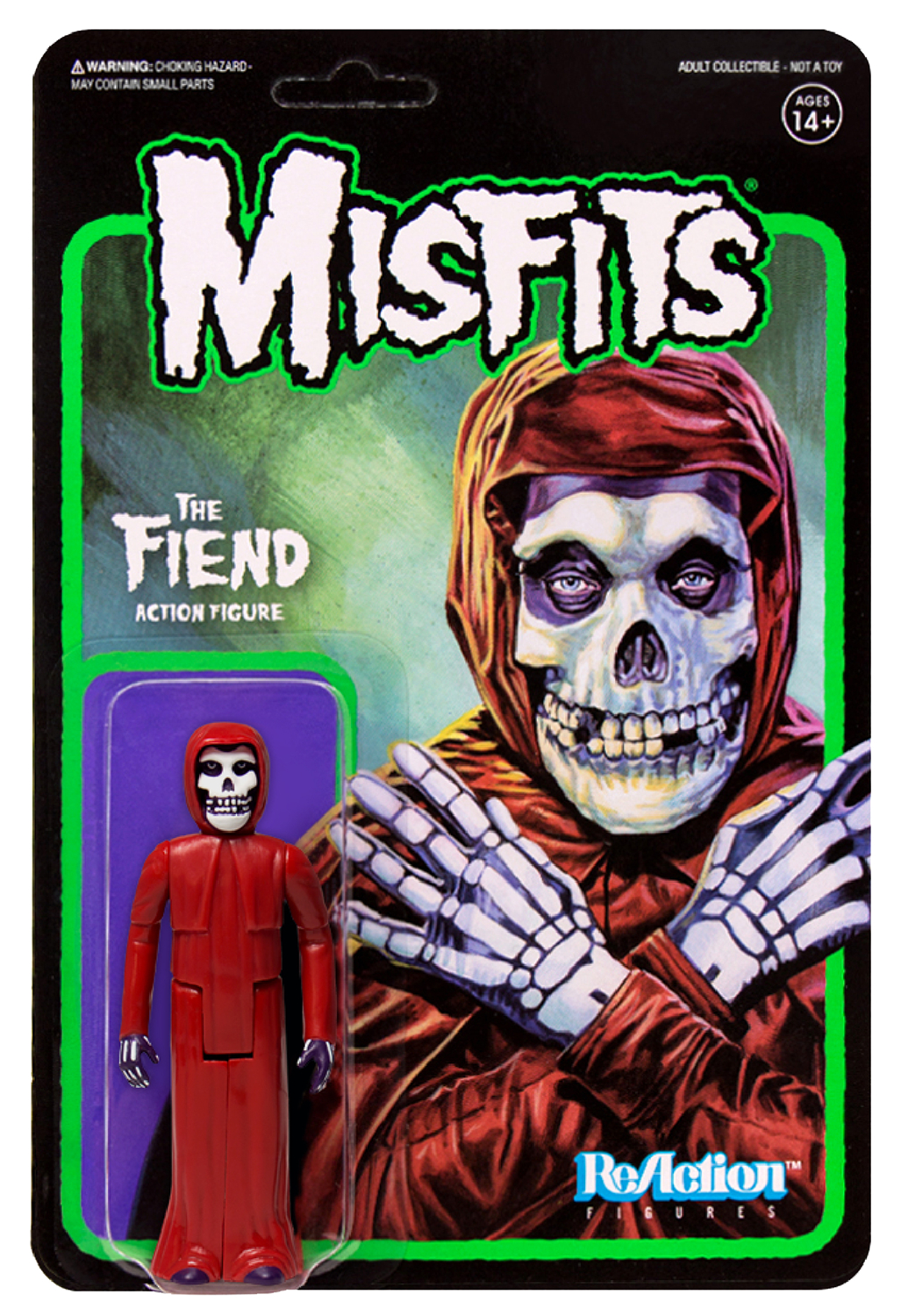 MISFITS CRIMSON RED FIEND REACTION FIGURE