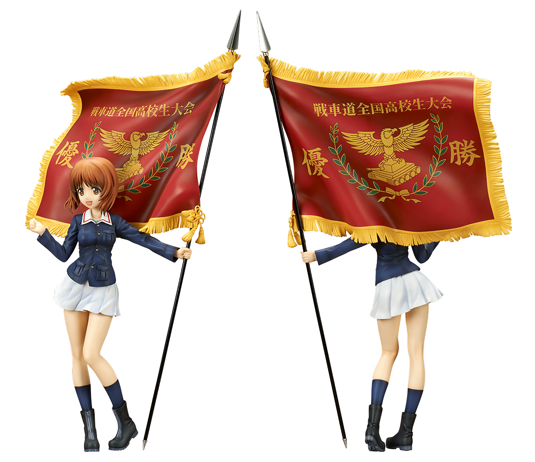 GIRLS UND PANZER MOVIE MIHO NISHIZUMI 1/7 PVC FIG W/ FLAG
