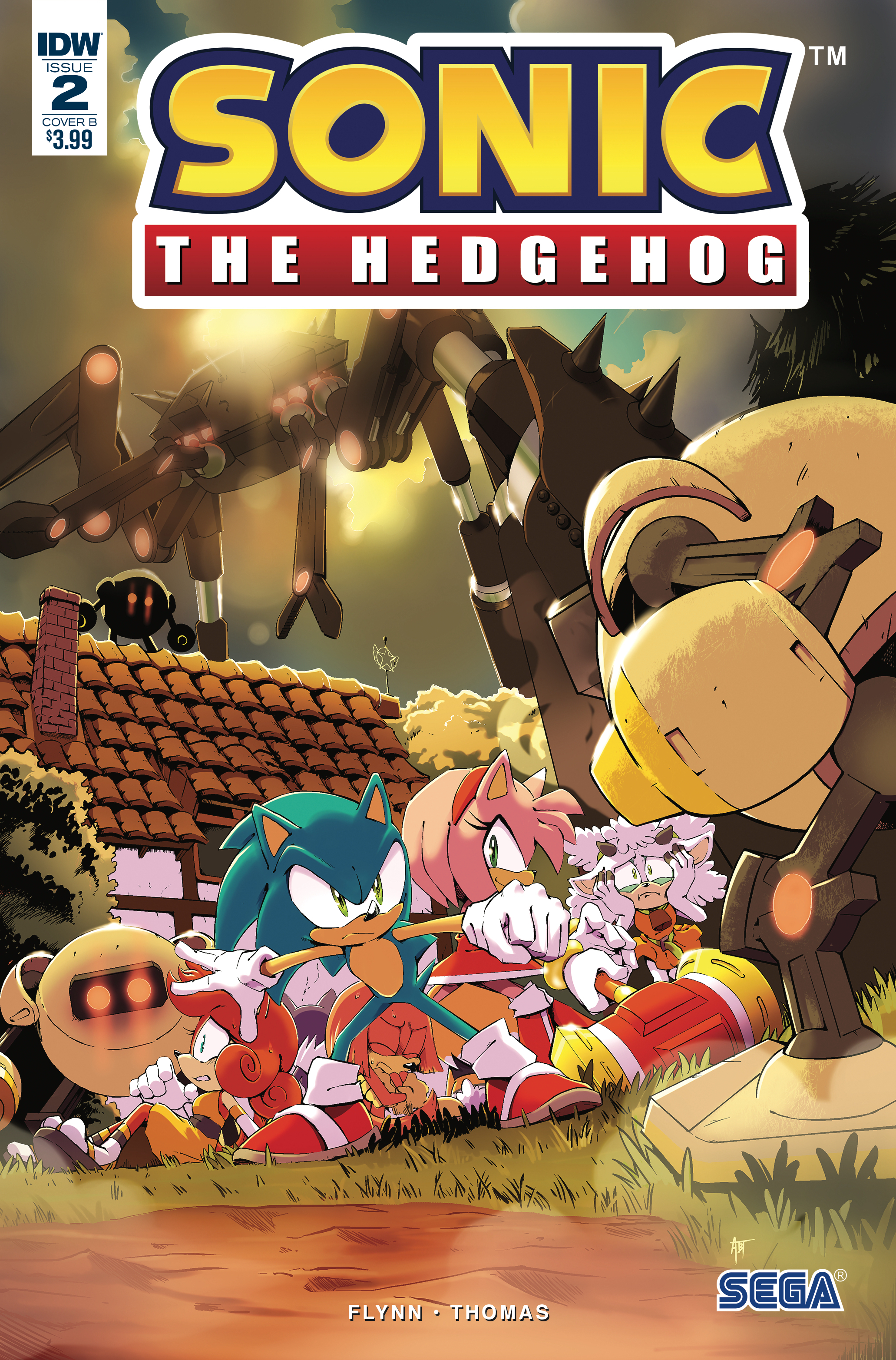 SONIC THE HEDGEHOG #2 CVR B THOMAS