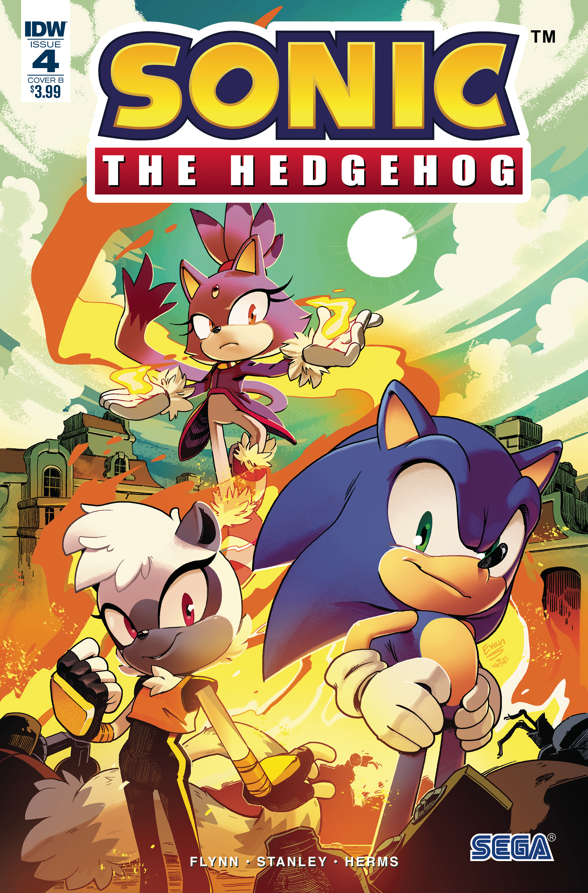 SONIC THE HEDGEHOG #4 CVR B STANLEY