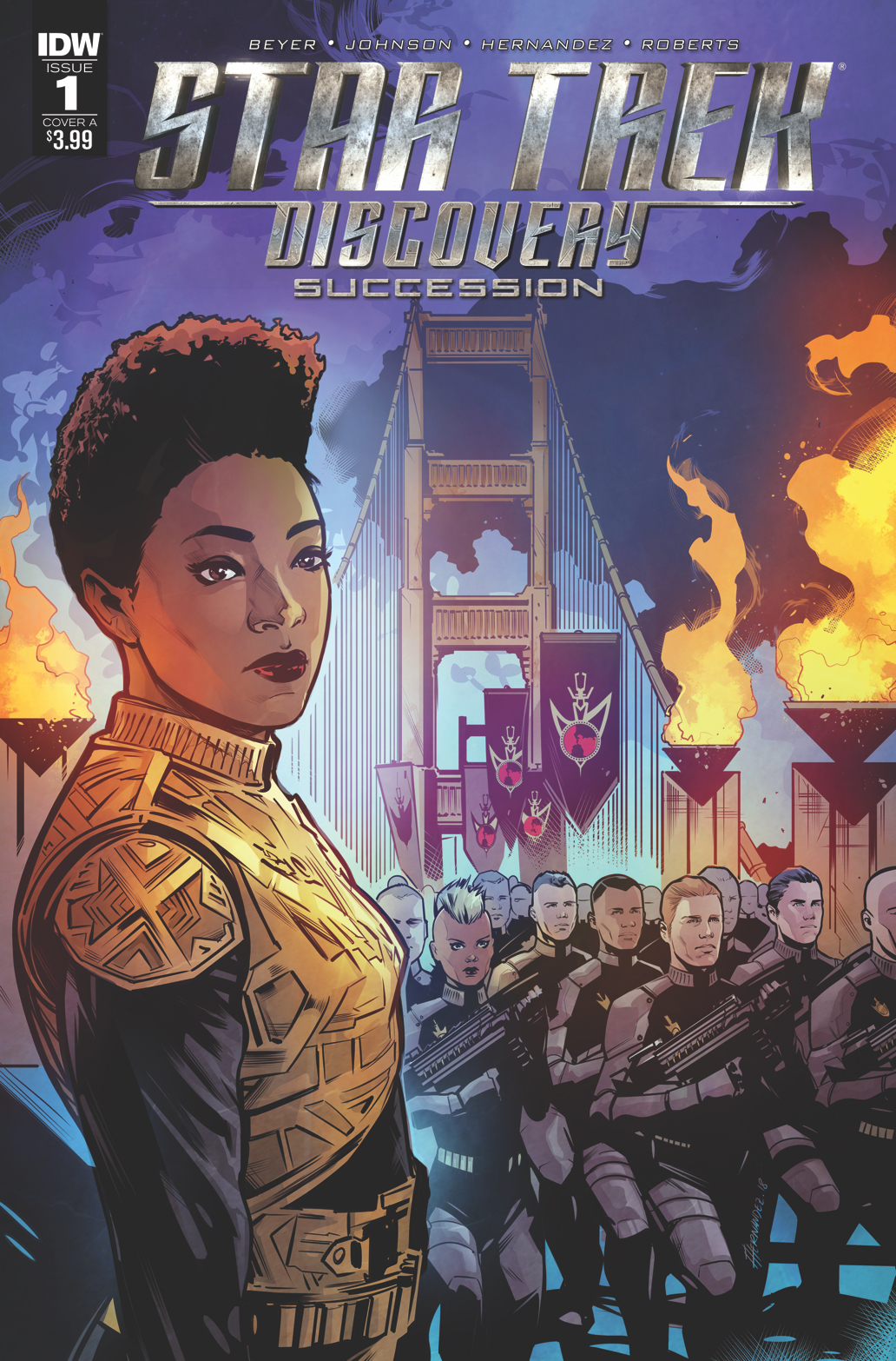 STAR TREK DISCOVERY SUCCESSION #1 CVR A HERNANDEZ