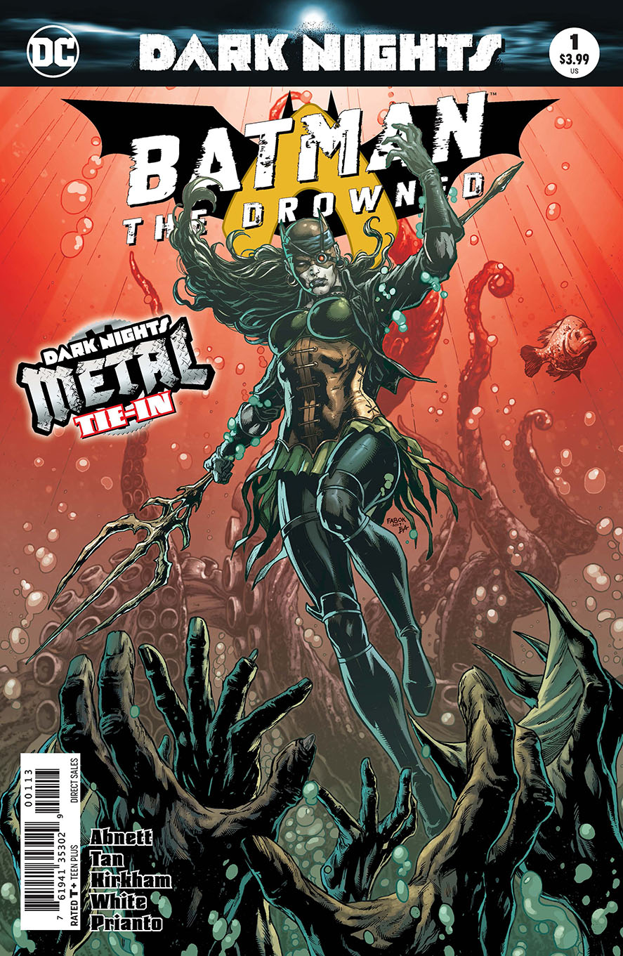 BATMAN THE DROWNED #1 3RD PTG METAL