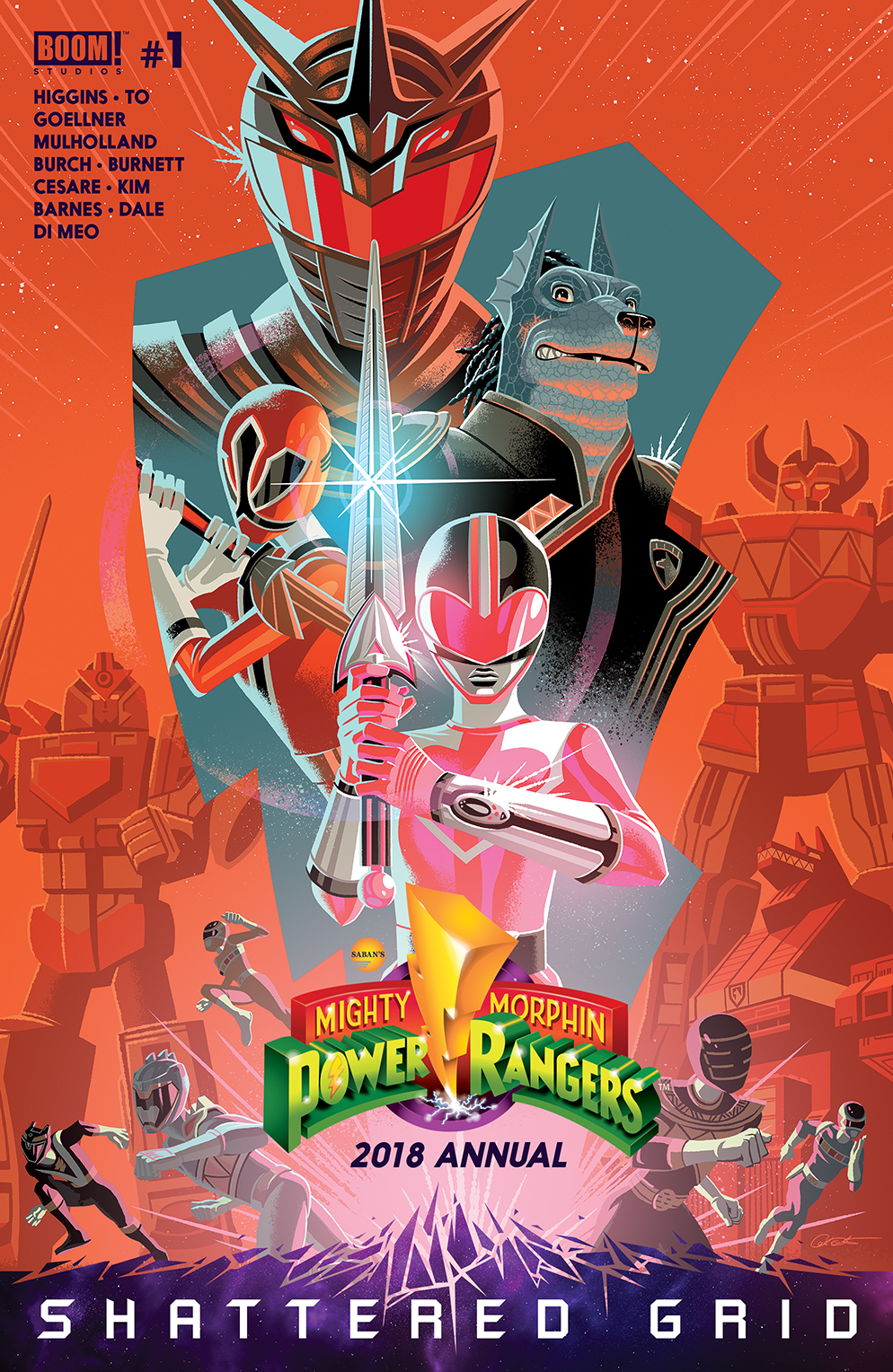 MIGHTY MORPHIN POWER RANGERS 2018 ANNUAL #1 SG