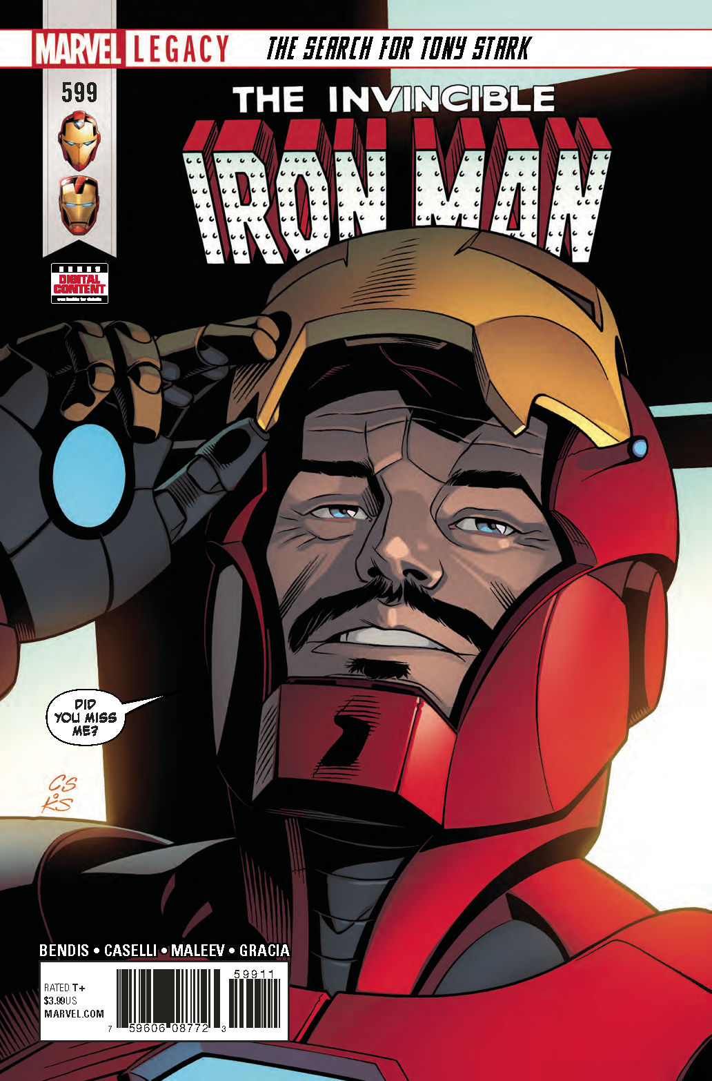 INVINCIBLE IRON MAN #599 LEG