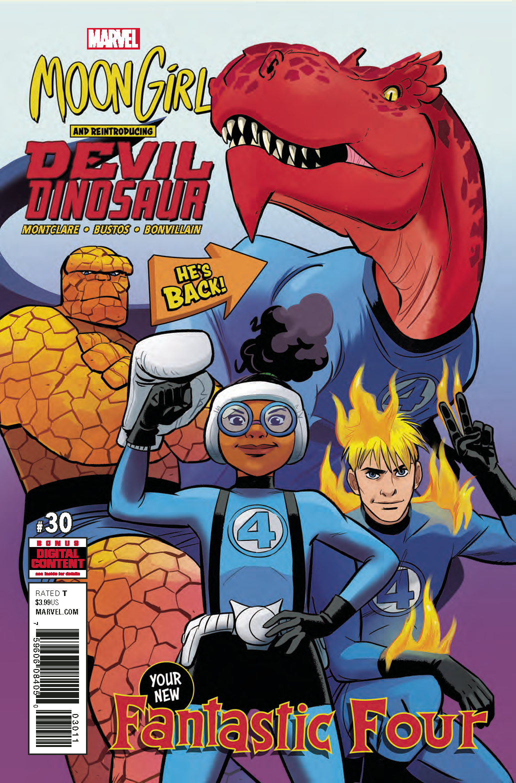 MOON GIRL AND DEVIL DINOSAUR #30 LEG