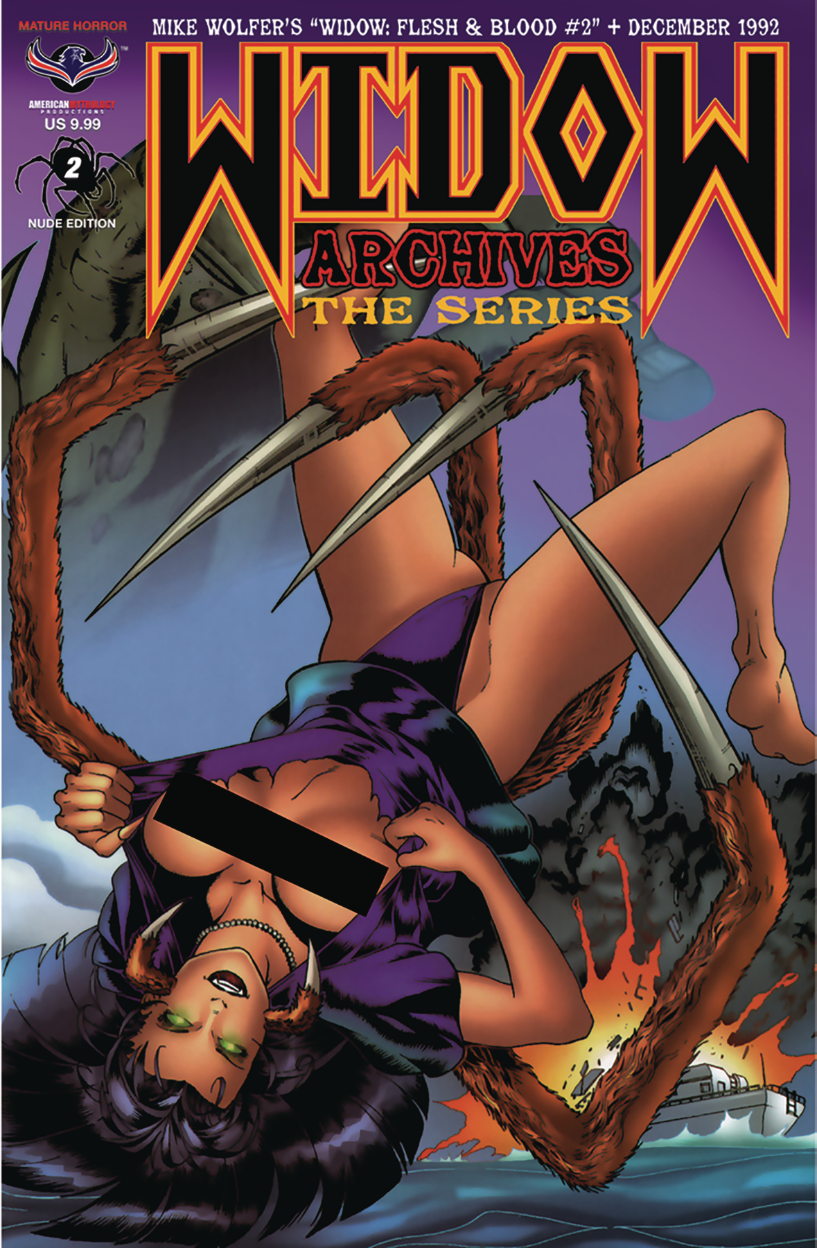 feb181072 - widow archives the series #2 nude cover edition