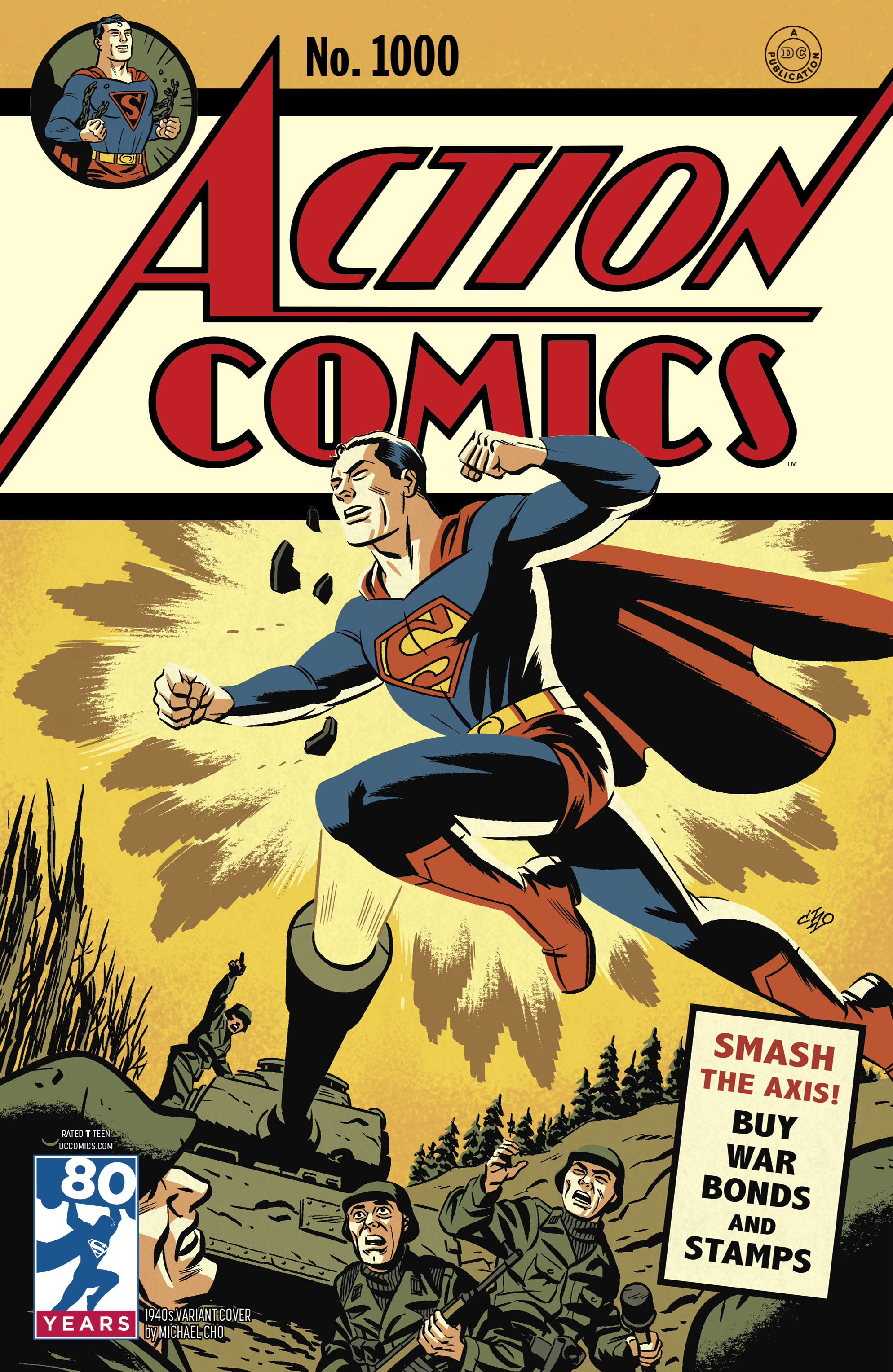 ACTION COMICS #1000 1940S VAR ED