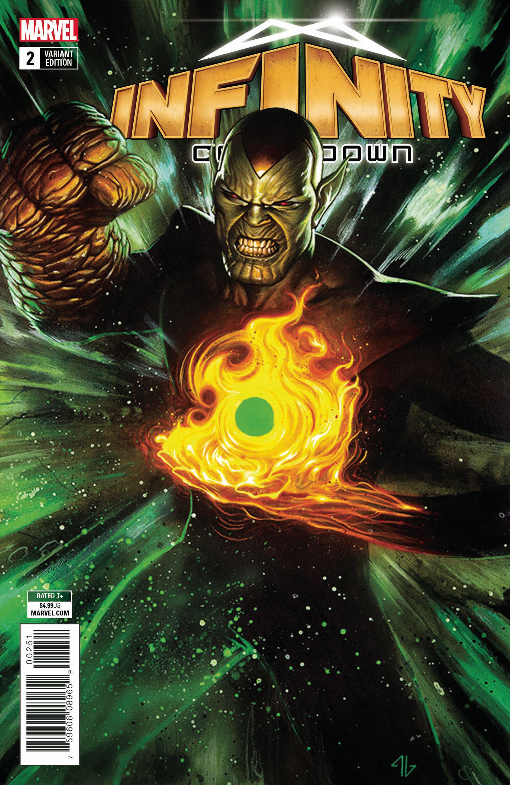 INFINITY COUNTDOWN #2 (OF 5) SUPER SKRULL HOLDS INFINITY VAR