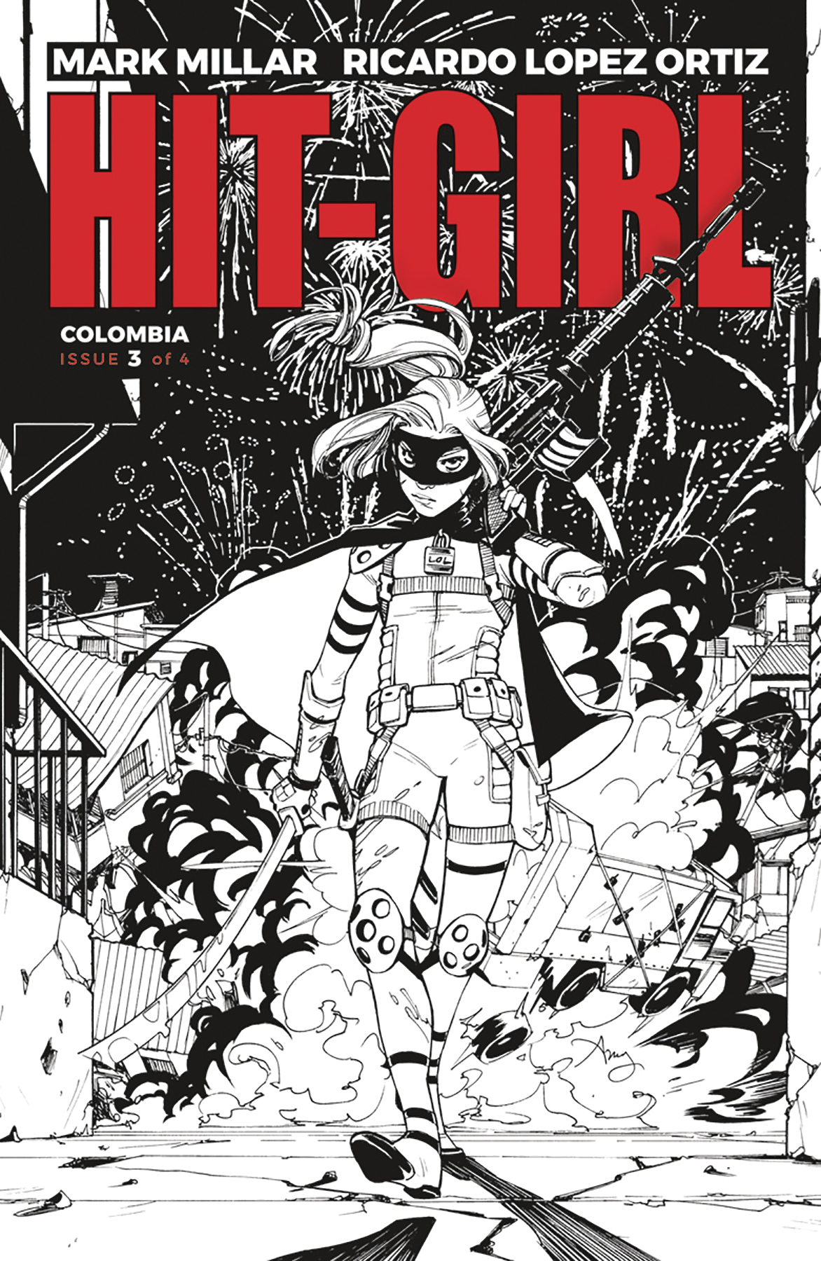 HIT-GIRL #3 CVR B B&W REEDER (MR)