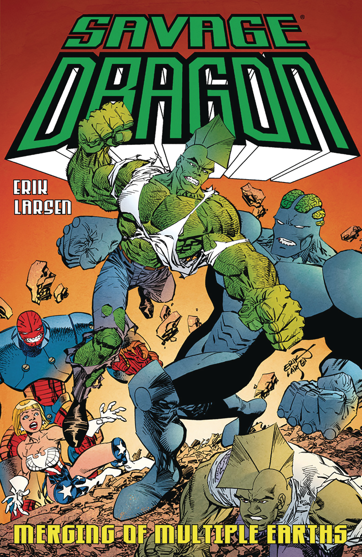 SAVAGE DRAGON MERGING OF MULTIPLE EARTHS TP (FEB180687) (MR)