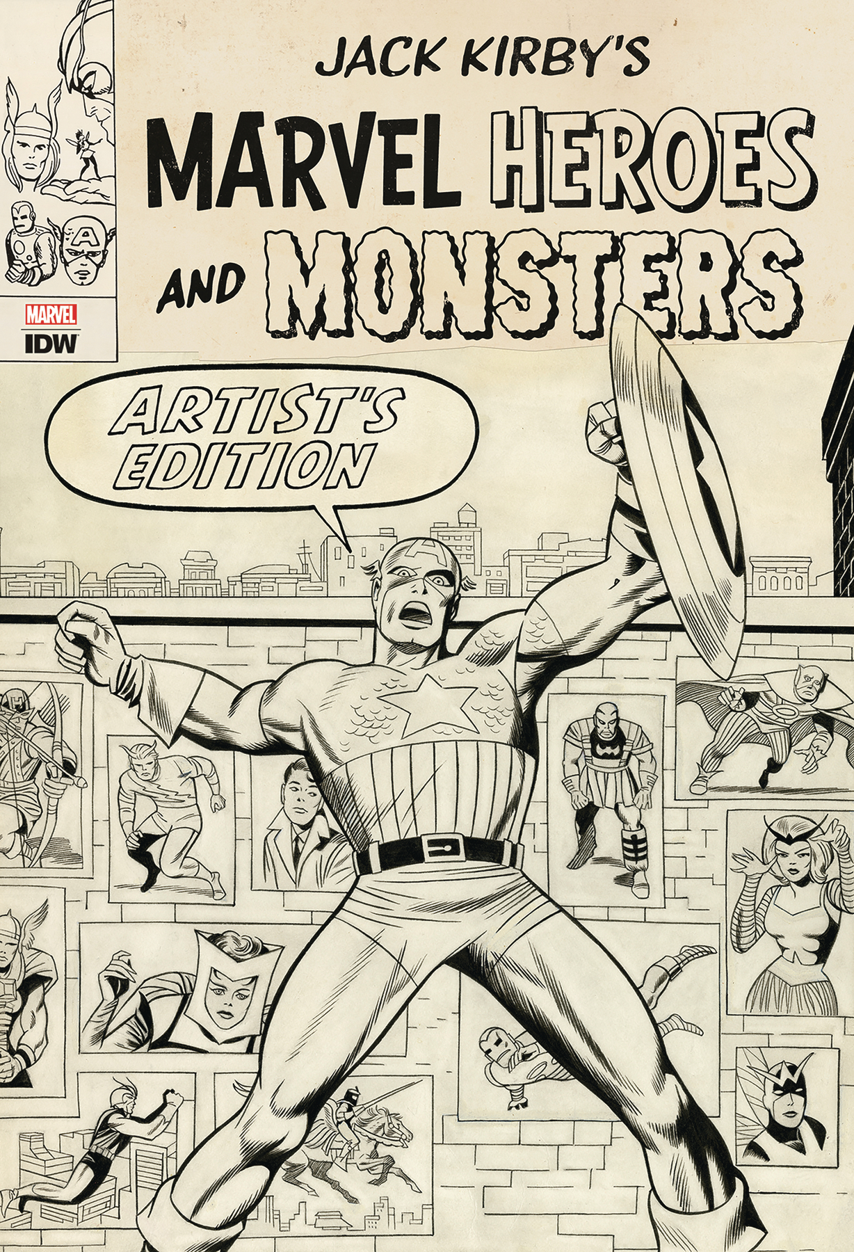 JACK KIRBY MARVEL HEROES & MONSTERS ARTIST ED HC