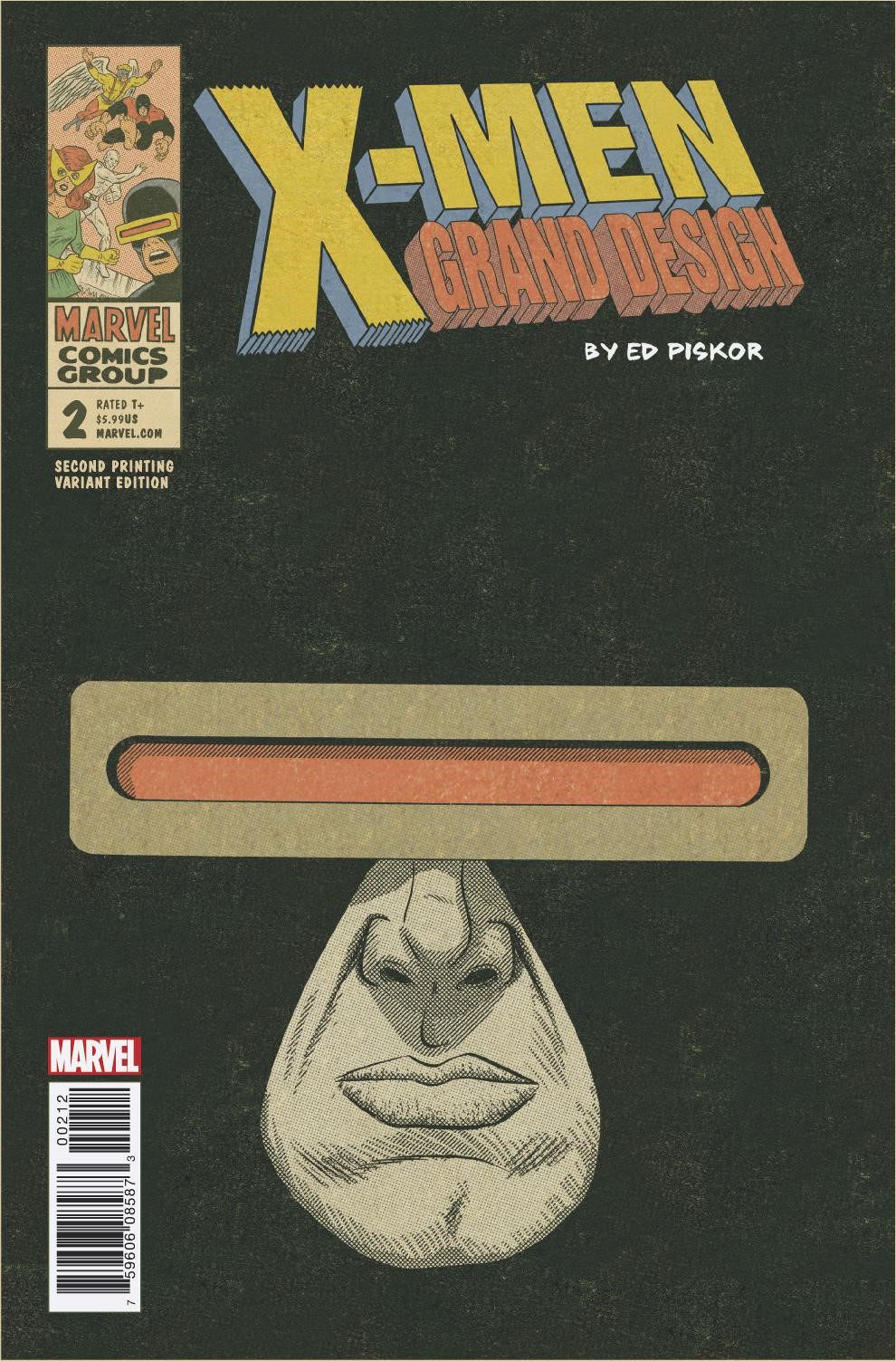 X-MEN GRAND DESIGN #2 (OF 2) 2ND PTG PISKOR VAR