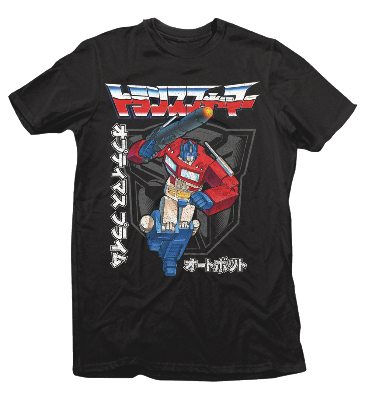 TRANSFORMERS JAPANESE TEXT BLACK T/S MED