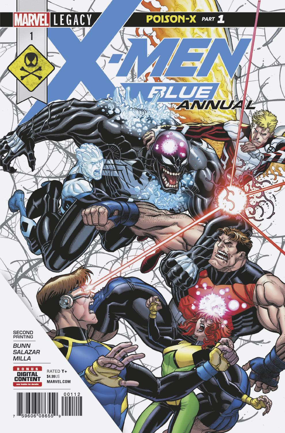 X-MEN BLUE ANNUAL #1 2ND PTG BRADSHAW VAR LEG