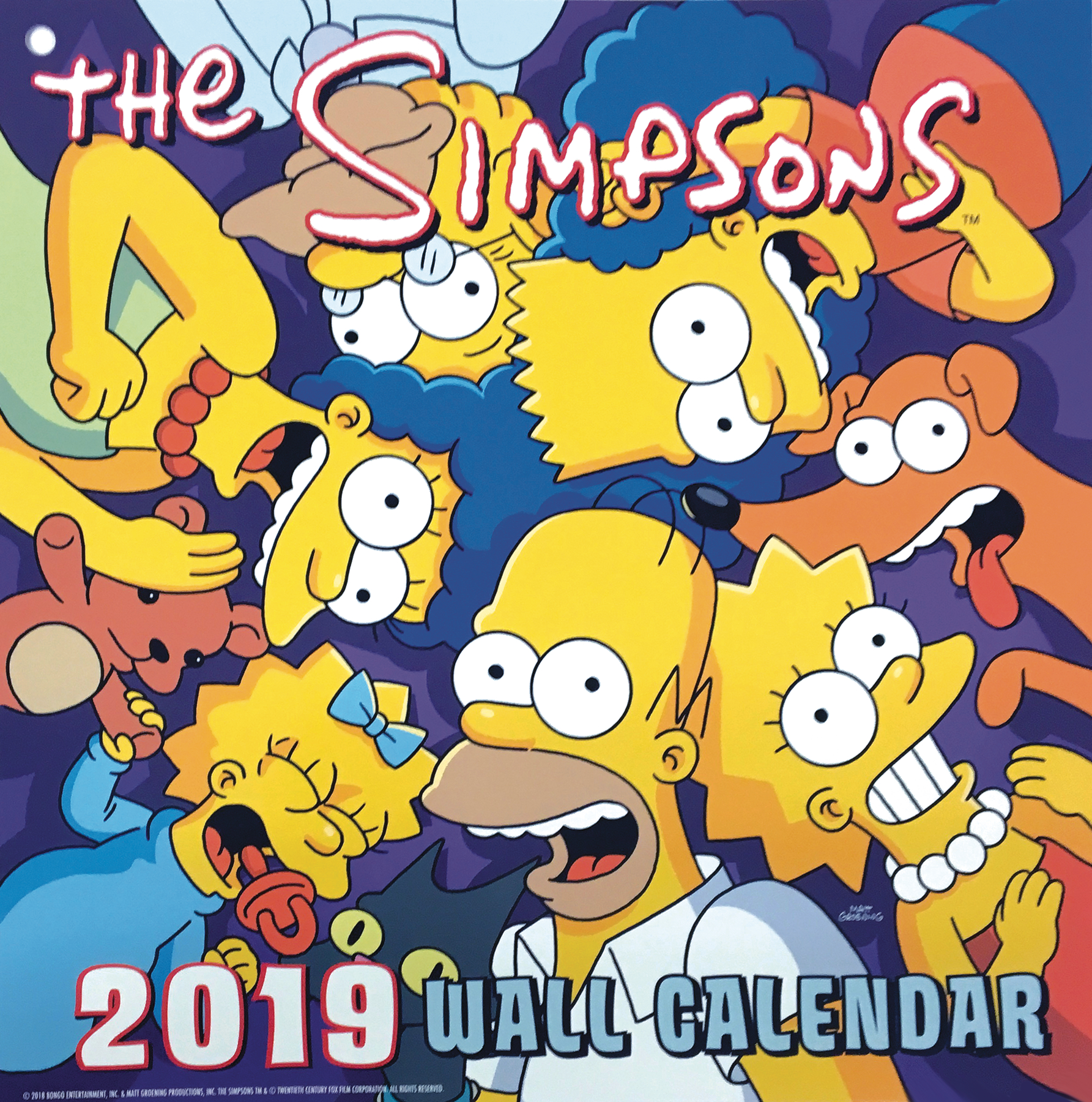 APR182120 - SIMPSONS 2019 WALL CAL - Previews World