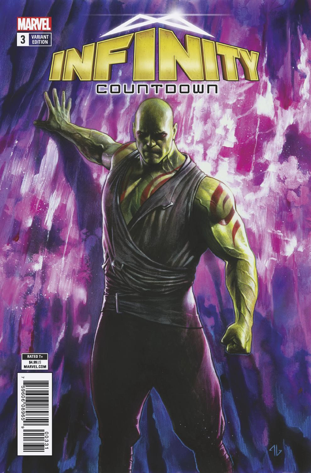 INFINITY COUNTDOWN #3 (OF 5) DRAX HOLDS INFINITY VAR LEG