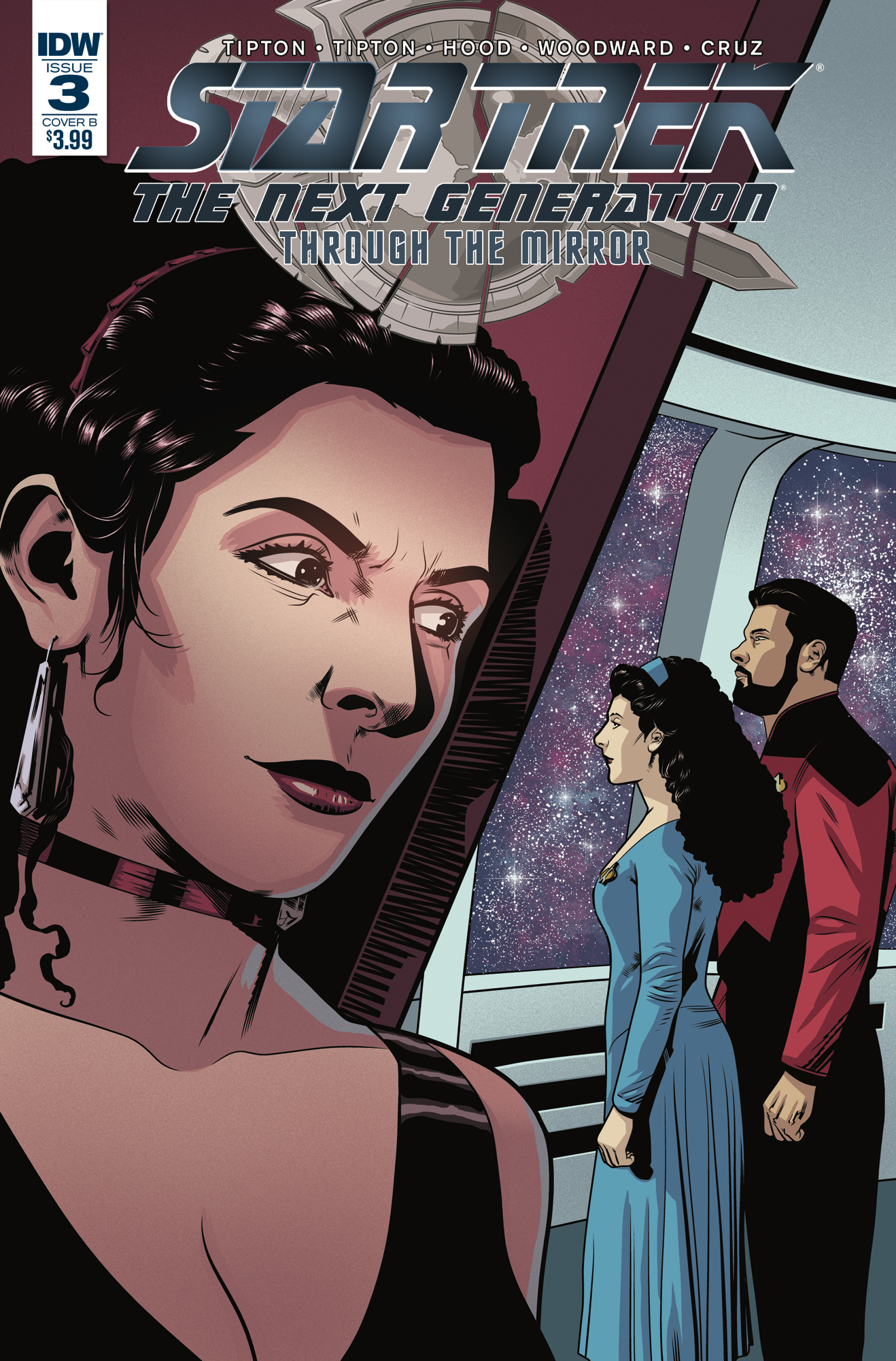 STAR TREK TNG THROUGH THE MIRROR #3 CVR B HOOD