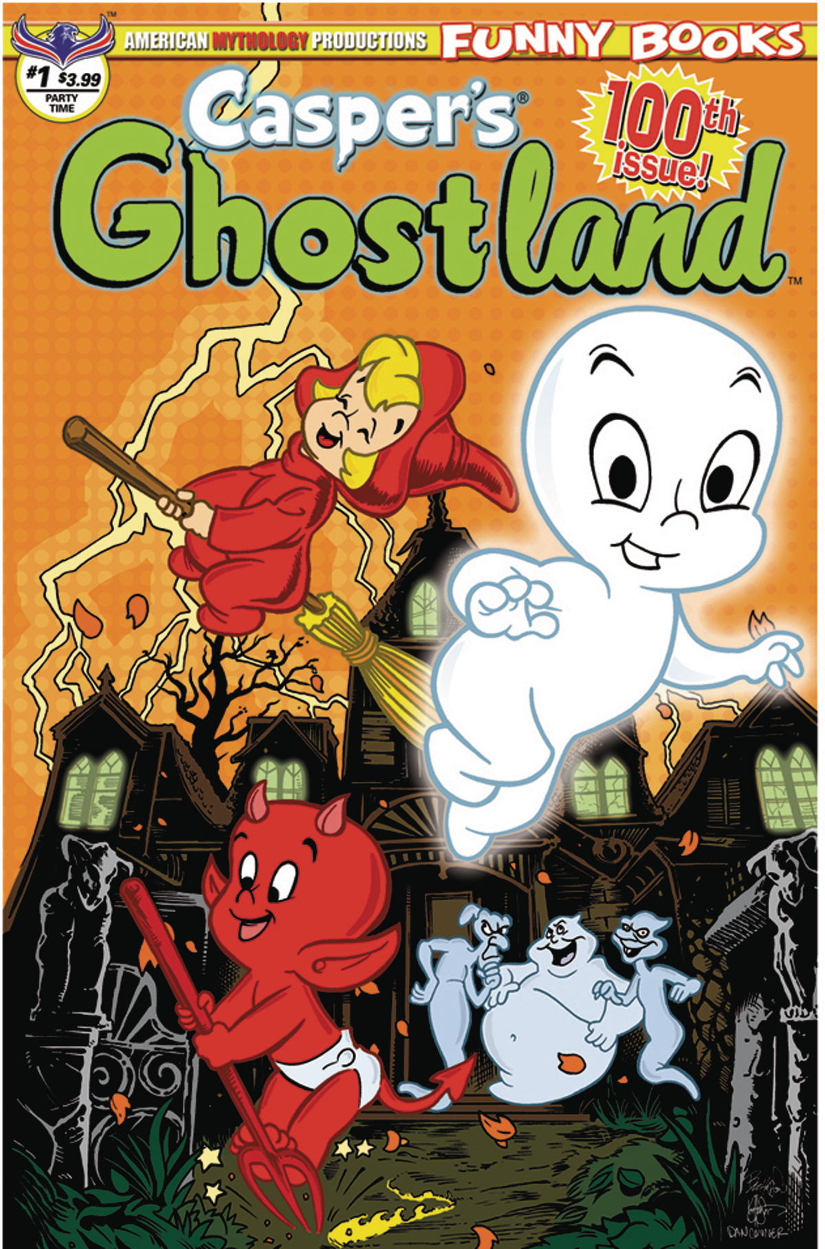 CASPERS GHOSTLAND #1 100TH ISSUE ANNIVERSARY PARTY TIME CVR