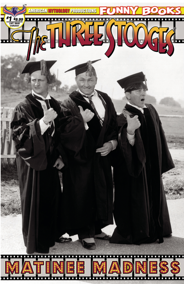THE THREE STOOGES MATINEE MADNESS #1 PREMIUM B&W PHOTO LTD E