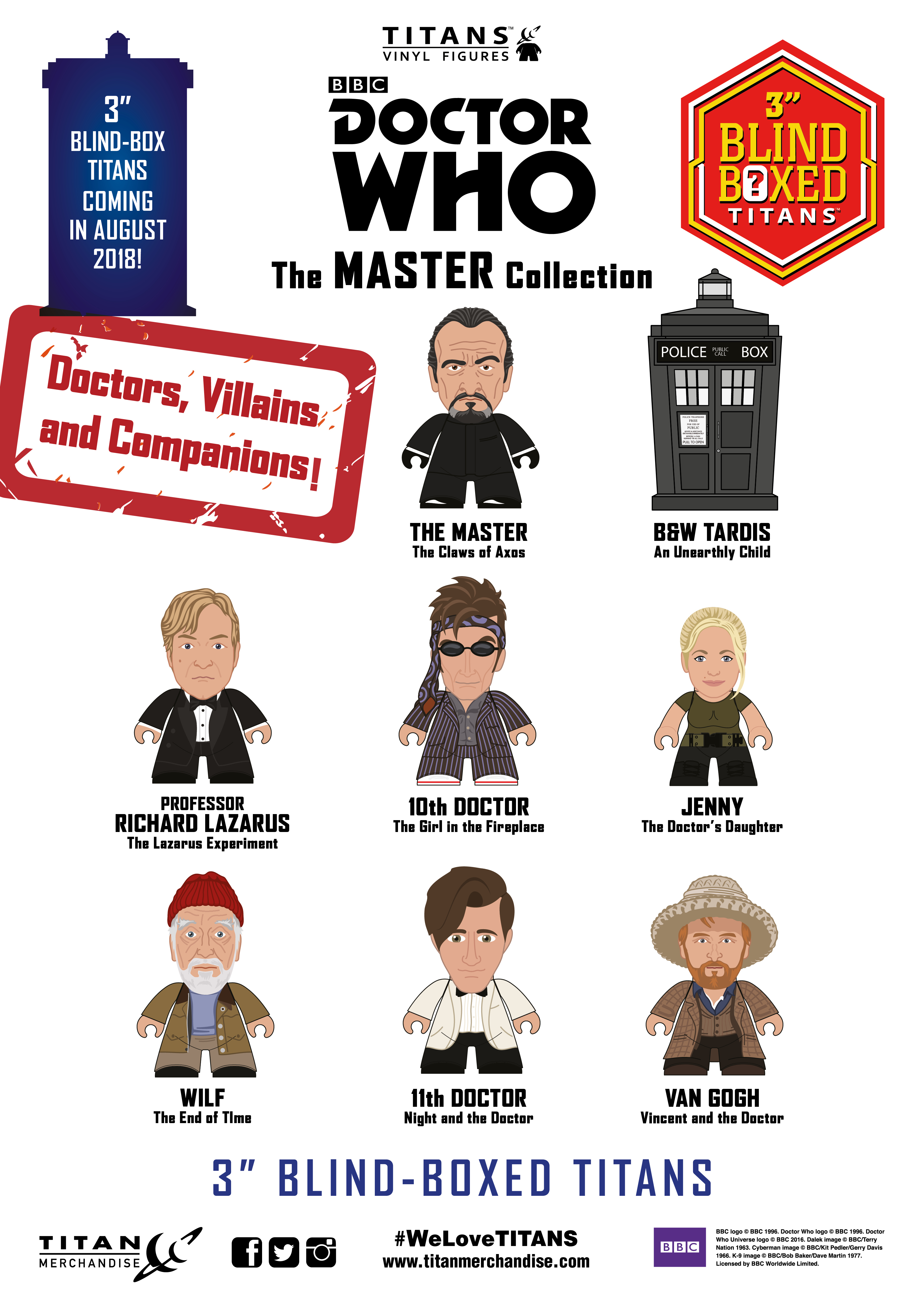 DOCTOR WHO MASTER COLL TITANS MINI FIG 18PC BMB DS
