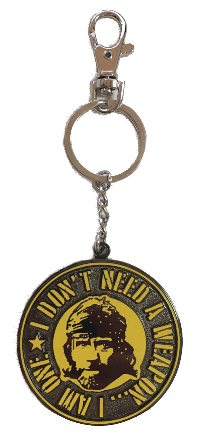 TOUGH GUY MISSING IN ACTION FACE WEAPON METAL KEYCHAIN