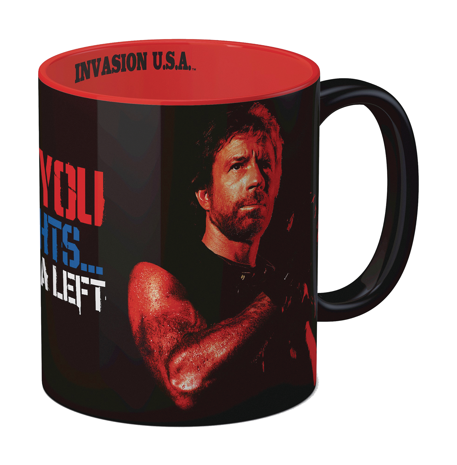 TOUGH GUY INVASION USA IM GONNA HIT YOU CERAMIC MUG