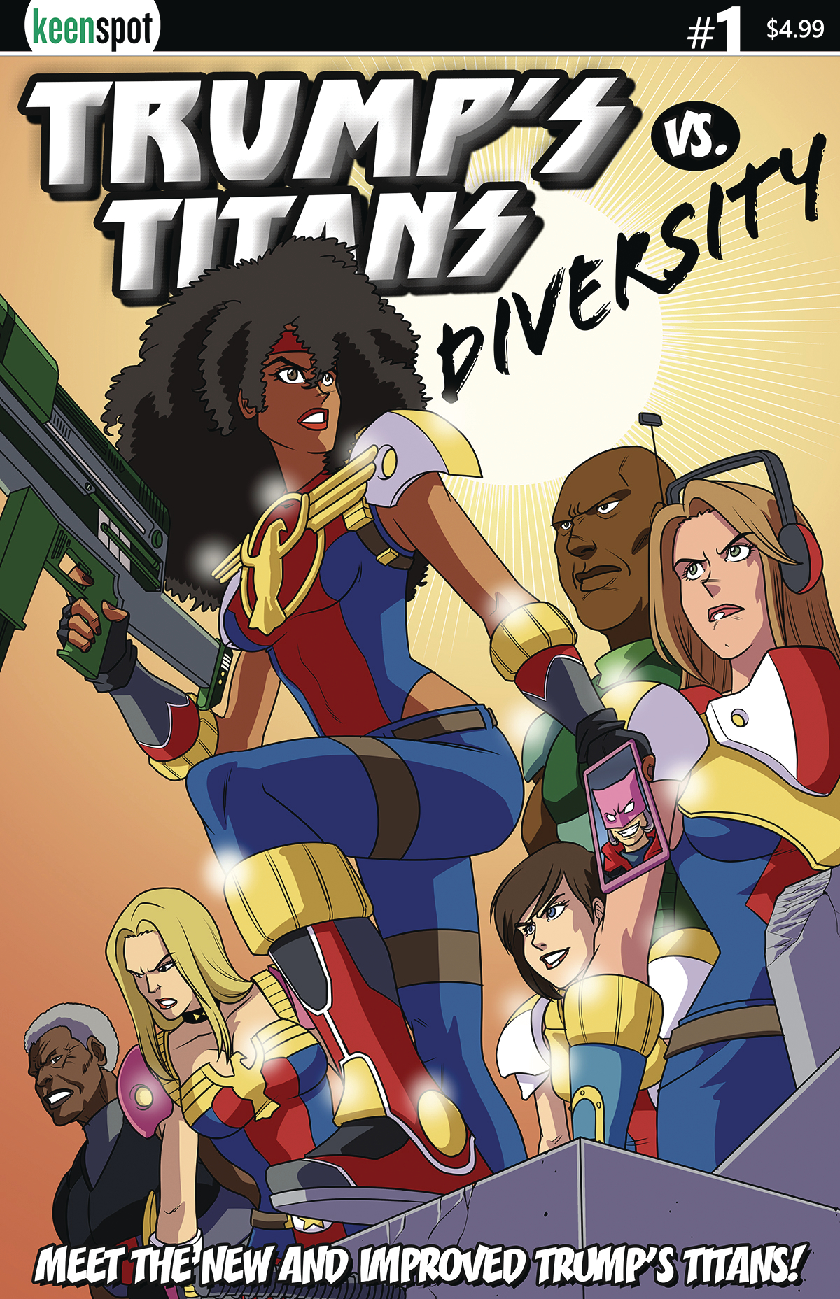 TRUMPS TITANS VS DIVERSITY #1 (OF 1) NEW TEAM CVR