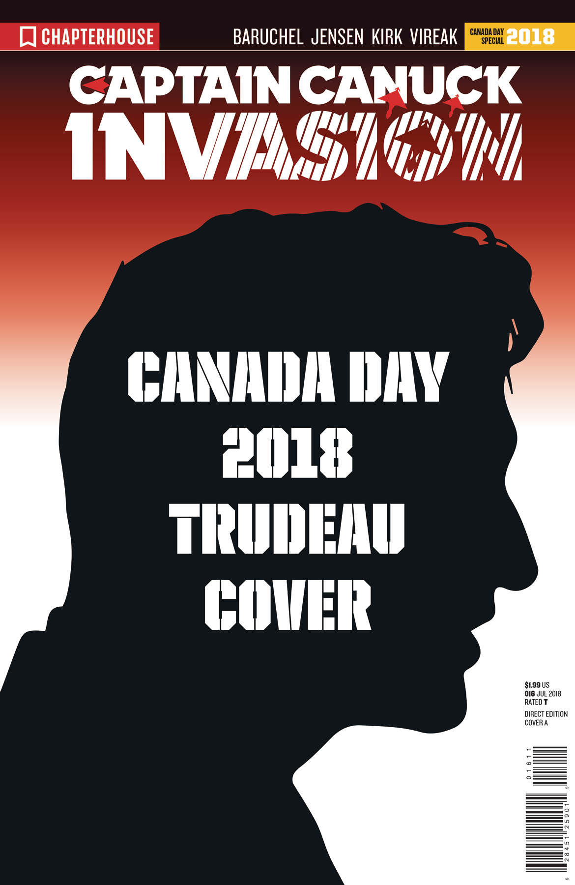 INVASION CHARACTER FILE CANADA DAY CVR TRUDEAU (O/A)
