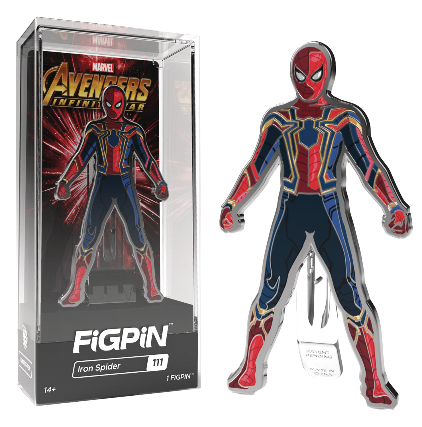 FIGPIN MARVEL AVENGERS IW SPIDER-MAN FIGURE PIN 6PC CASE