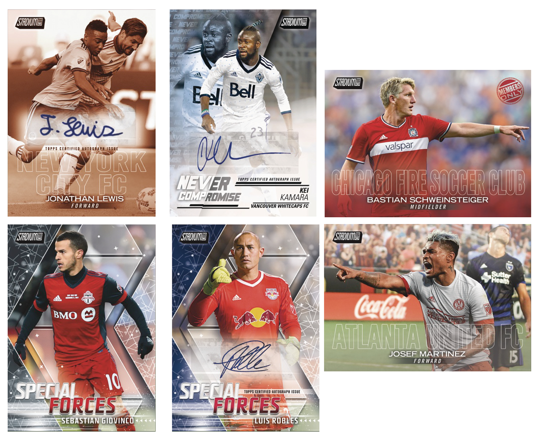 TOPPS 2018 STADIUM CLUB MLS T/C BOX (Net)