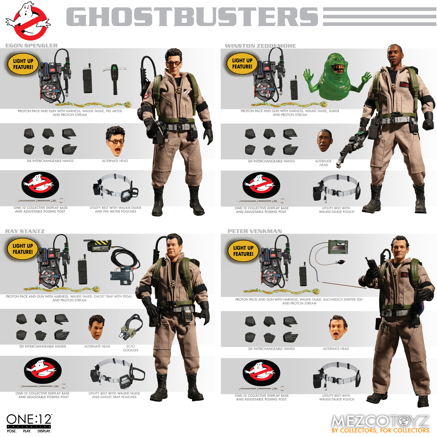 ONE-12 COLLECTIVE GHOSTBUSTERS DELUXE 4PC AF BOX SET  (