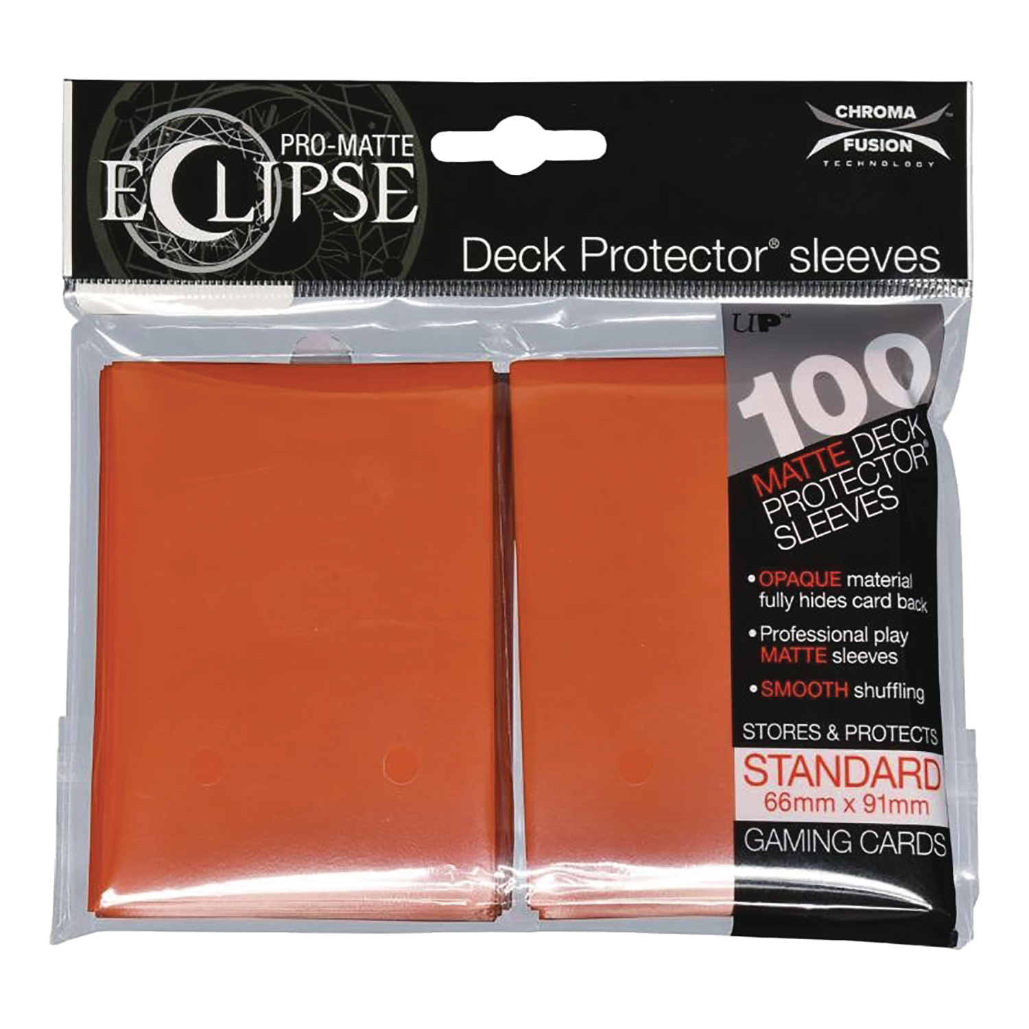 PRO MATTE ECLIPSE 2.0 DECK PROTECTORS 100CT PUMPKIN ORANGE (