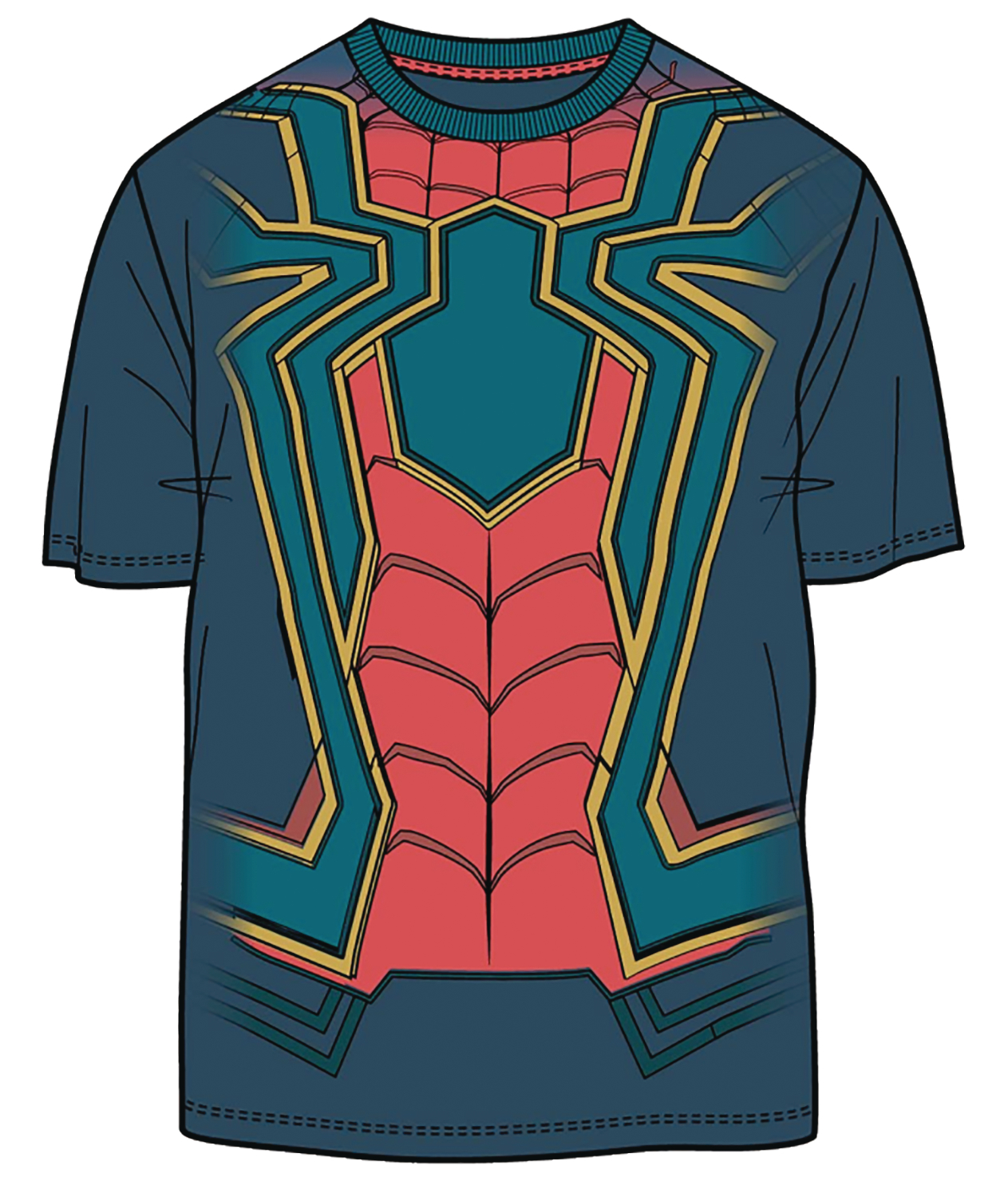 AVENGERS IW I AM IRON SPIDER PX NAVY T/S SM
